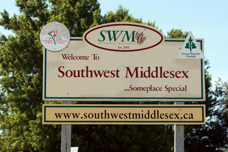 Southwest Middlesex Road Sign