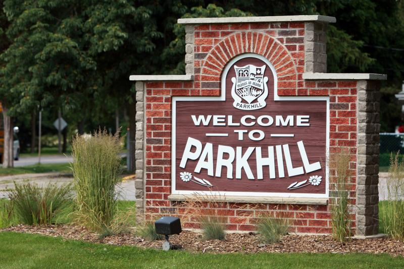 Welcome to Parkhill Road Sign