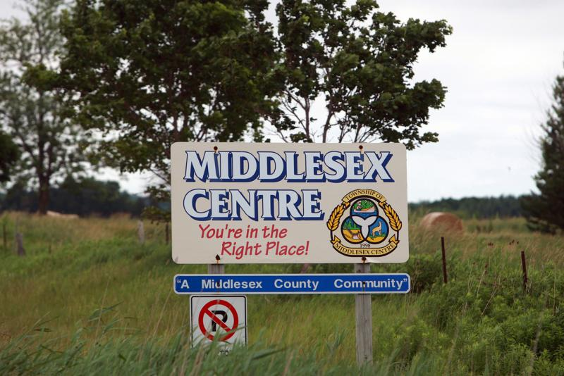 Middlesex Centre Road Sign