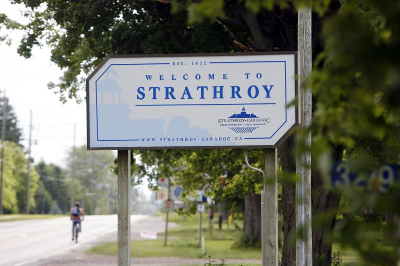 Strathroy Road Sign
