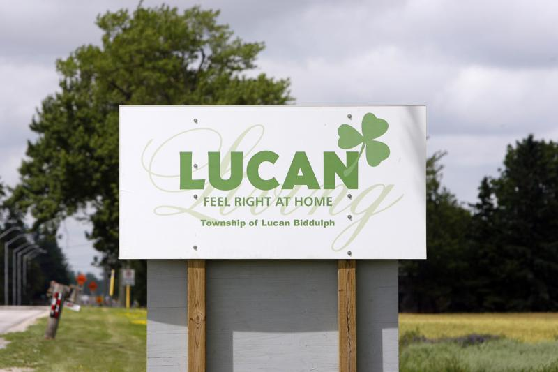 Lucan Road Sign